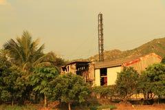 The village house at the hong kong. A village house at the hong kong royalty free stock photo