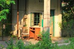 The village house at the hong kong. A village house at the hong kong stock images