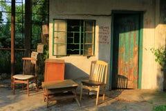 The village house at the hong kong. A village house at the hong kong stock photo