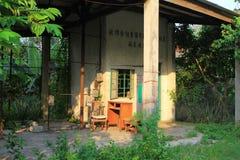 The village house at the hong kong. A village house at the hong kong stock photography