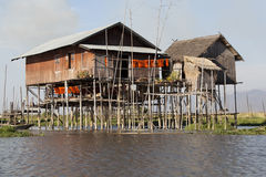 Village house on Inle Lake Royalty Free Stock Images