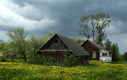 Village house, Novgorod region, Russia royalty free stock image