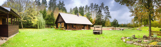 Village house panoramic Stock Image
