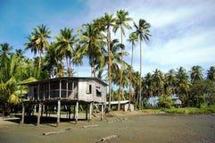 Village house at river coast Stock Photo