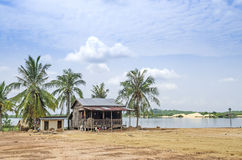 Village house in rural cambodia Stock Image