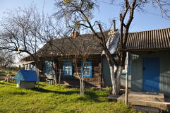 Village house in Russia. Royalty Free Stock Photos