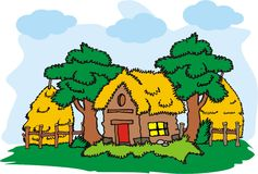 Village house vector Stock Photography