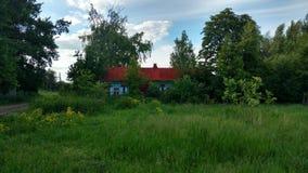 Village. The house wifh garden in village Royalty Free Stock Photos