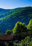 Village Houses By Mountainside Royalty Free Stock Photo