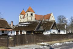 Village houses in Ocsa. Traditional village houses in Ocsa, Hungary Royalty Free Stock Images