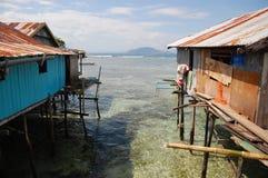 Village houses at sea coast Royalty Free Stock Photos