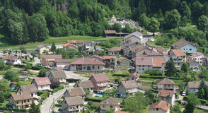 Village houses in Switzerland Royalty Free Stock Image