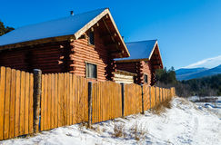 Village houses in the Ural mountains Royalty Free Stock Image