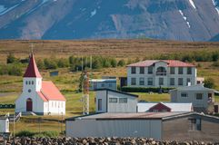 Village of Hrisey in Iceland Royalty Free Stock Images