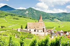 Village of Hunawihr, Alsace Royalty Free Stock Images