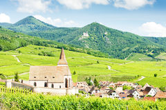 Village of Hunawihr, Alsace Royalty Free Stock Photo
