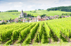 Village of Hunawihr, Alsace. Village of Hunawihr in Alsace, France Stock Photography