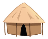 Village hut stock illustration