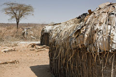 Village hut in Kenya Stock Photography