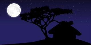 Village hut at night 2 Stock Images