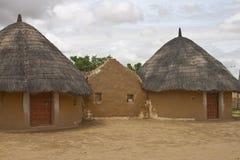 Village hut in Thar desert Royalty Free Stock Photos