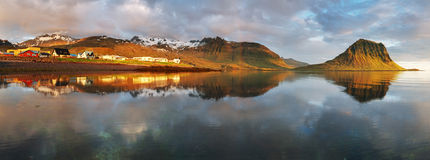 Village in Iceland - Grundarfjordur - snaefellsnes Royalty Free Stock Photography