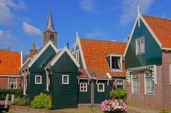 Village idyll. In Volendam, in the Netherlands Royalty Free Stock Photo