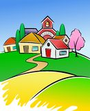 Village illustration Royalty Free Stock Photos