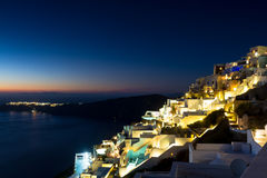 Village of Imerovigli at night Stock Photos