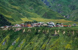 Village In Caucasus Mountains Stock Photo