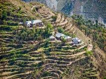 Village In Remote Himalayan Region, India Stock Photos