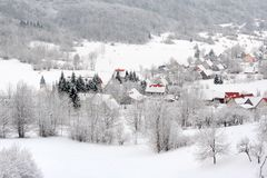 Free Village In Winter Stock Image - 22350881