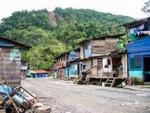 Village indien au Pérou photos stock