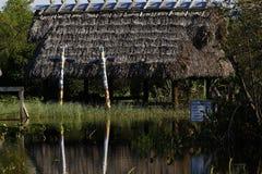 Village indien inondé abandonné Photographie stock