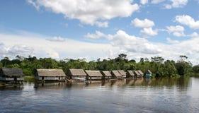 Village indigène du Pérou Photographie stock libre de droits