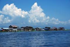 Village  at Inle Lake, Burma. Stock Photos