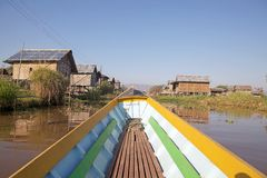 Village on the Inle Lake Stock Photo
