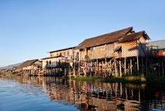 Village of Intha people on Inle lake, Myanmar Royalty Free Stock Image