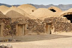 Village iranien traditionnel d'adobe dans la province d'Isphahan l'iran photographie stock