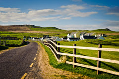 Village in Ireland. Typical irish village, Co. Kerry Royalty Free Stock Photo