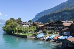 The village of Iseltwald on lake Brienz, Switzerland Royalty Free Stock Photos