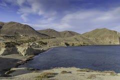 Village Isleta del Moro, cabo de gata, andalusia, spain, europe, the beach Stock Photography