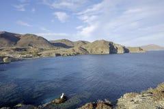 Village Isleta del Moro, cabo DE gata, andalusia, Spanje, Europa, het strand royalty-vrije stock fotografie