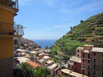 Village on Italian Coast Stock Image