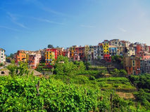 Village on Italian Coast Stock Photos