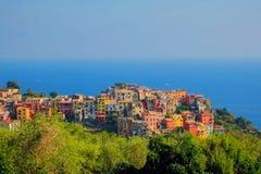 Village on Italian coast Stock Photos
