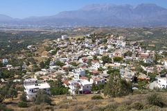 The village Kamilari on Crete Royalty Free Stock Photos