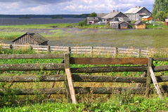 Village in Karelia, Russia Royalty Free Stock Photography