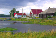 Village in Karelia, Russia Royalty Free Stock Images