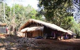 Village of the Karen tribe Stock Photo